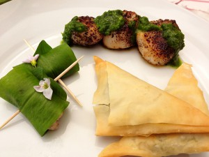 Wild-inspired canapes